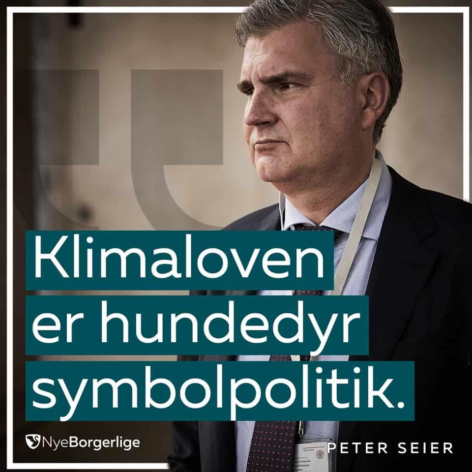 Peter Seier Christensen Klimapolitik Klimaloven Nye Borgerlige