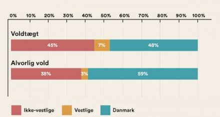 Ikke-vestlige indvandrere og efterkommere udgør 45% af voldtægtsdømte